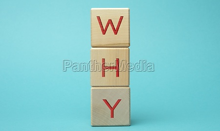 why inscription on wooden cubes concept