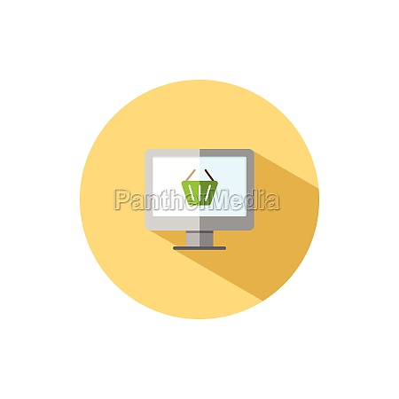online store computer screen and shopping