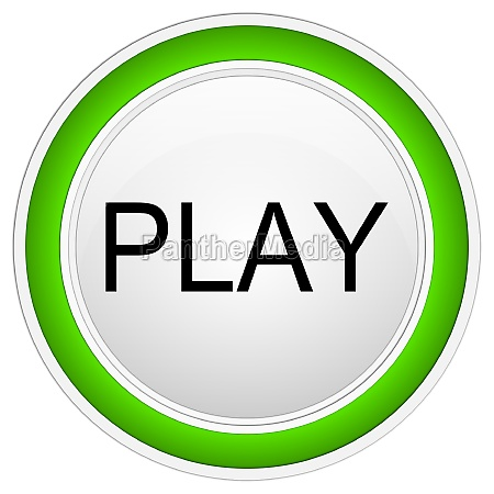 play button green on white background