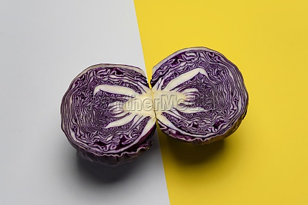 red cabbage cut