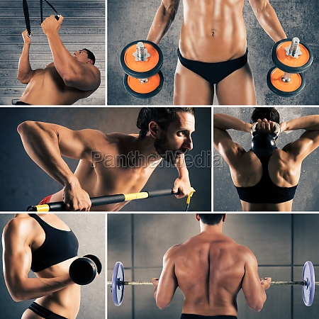 collage fitness workout