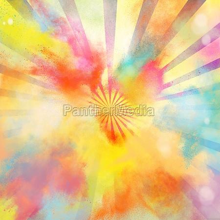 pop art colourful burst