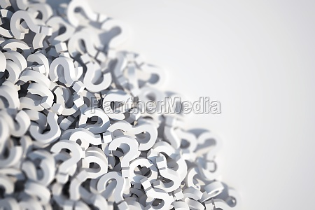3d rendering of question mark