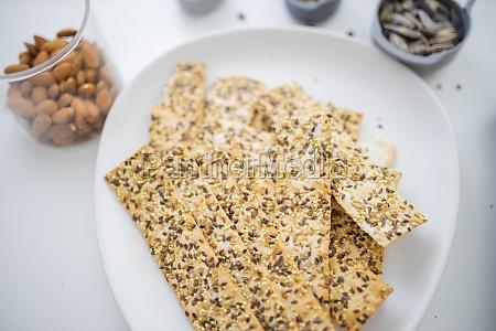 swedish crispbread on a white plate