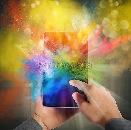 cellphone colour burst