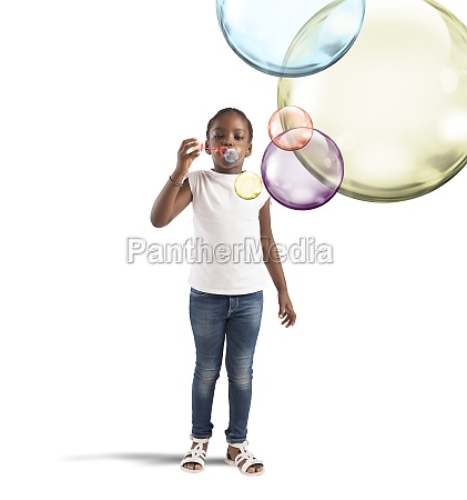 colourful soap bubbles