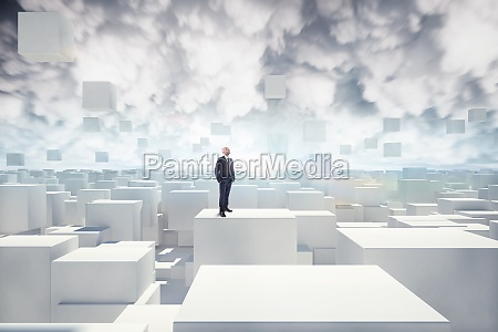 vision of futuristic city