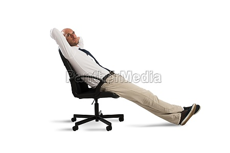 businessman relax and think