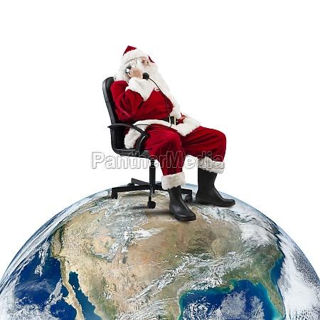 santa claus receives requests via telephone