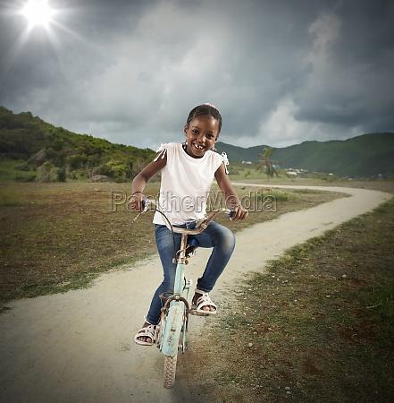 bicycle of little girl