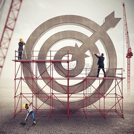 teamwork build a business target