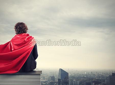 business city superhero