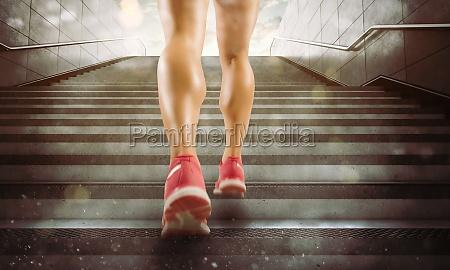 legs of a girl running