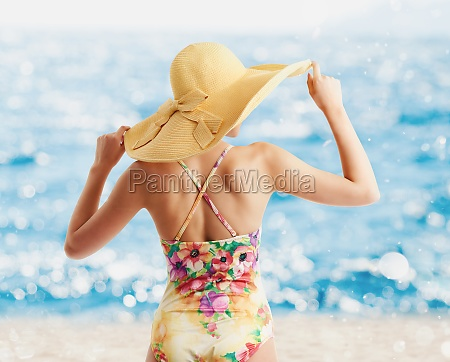 girl at the beach with a
