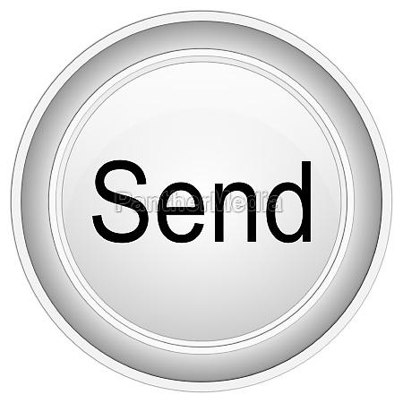 send button silver on white background