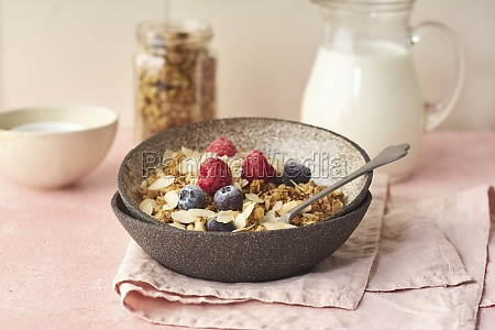 granola with nuts oats berries and