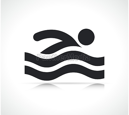 swimming man icon isolated vector