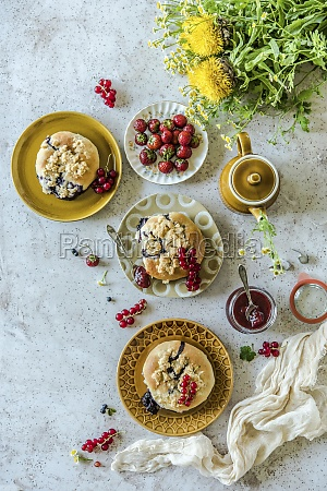 yeast pastries with sprinkles and summer