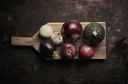 assorted vegetables on wooden board