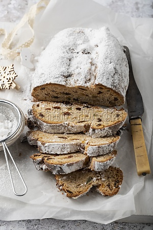 stollen german christmas bread with