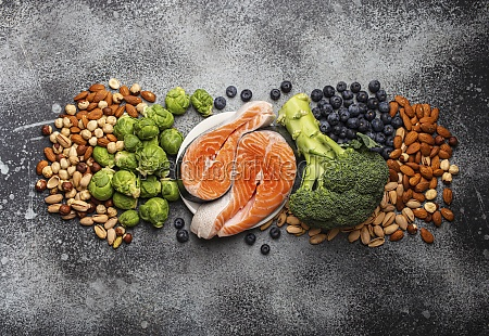 assorted food for brain health and