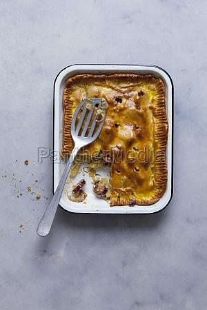 potato pie with montbeliard sausage