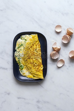 omelette with herbs