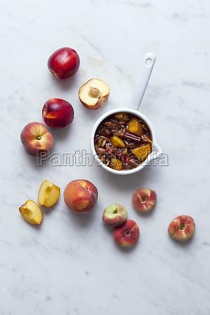 peach chutney with cinnamon