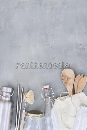 zero waste and plastic free kitchen