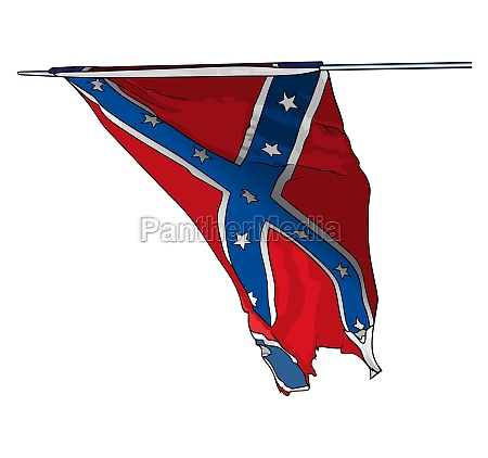 flag of confederate states army in