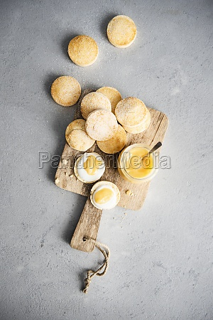 gluten free scones with lemon curd