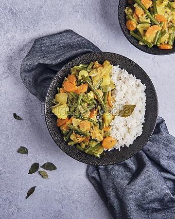bean and potato curry with rice