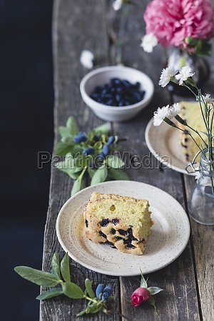 blueberry vanilla cake