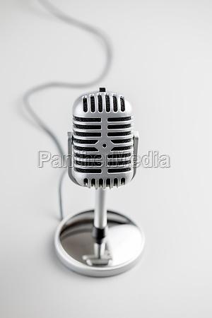 metal retro microphone vintage microphone
