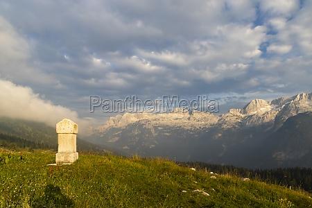 dolomites on italian and slovenian border