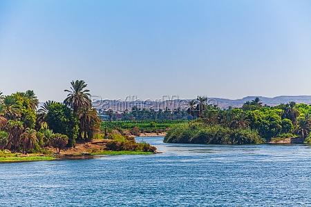 landscape view of large river nile