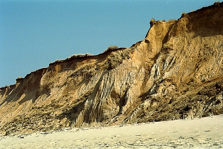 the red cliff on sylt