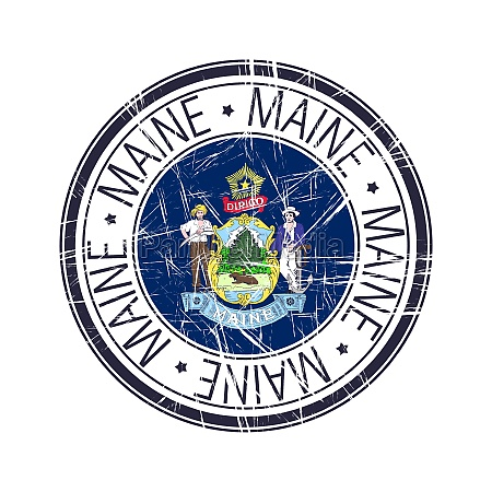 maine rubber stamp
