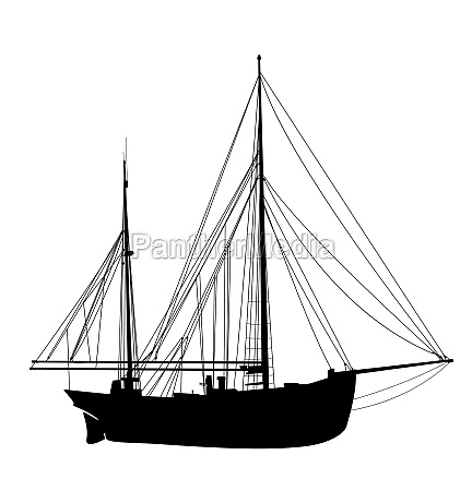 sailing yacht silhouette