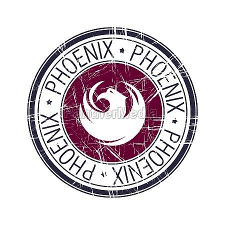 city of phoenix arizona vector stamp