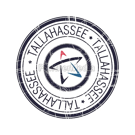 city of tallahassee florida vector stamp