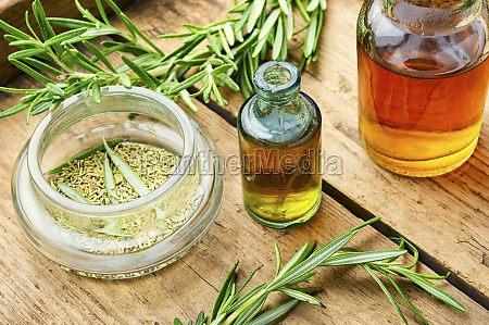rosemary in herbal medicine copy space