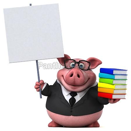 fun pig 3d illustration