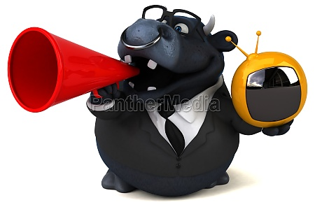black bull 3d illustration