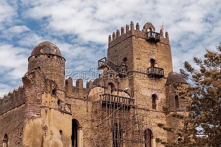 fasil ghebbi royal castle in gondar