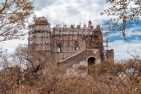 ruins of guzara royal palace ethiopia