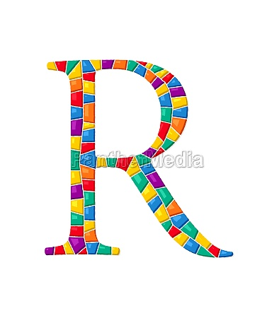 letter r vector mosaic