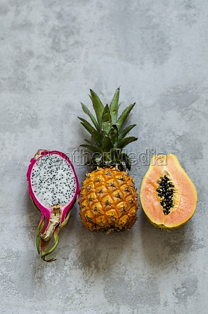 a pitahaya a baby pineapple and