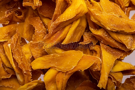 pile of dried mango slices
