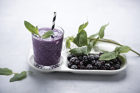 iced blackberry lassi vegan